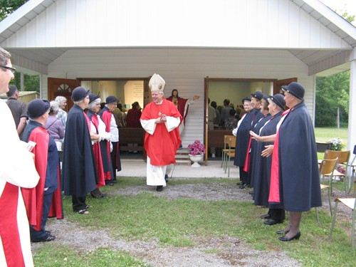 Procession after Mass with Daughters of Isabella Honour Guard